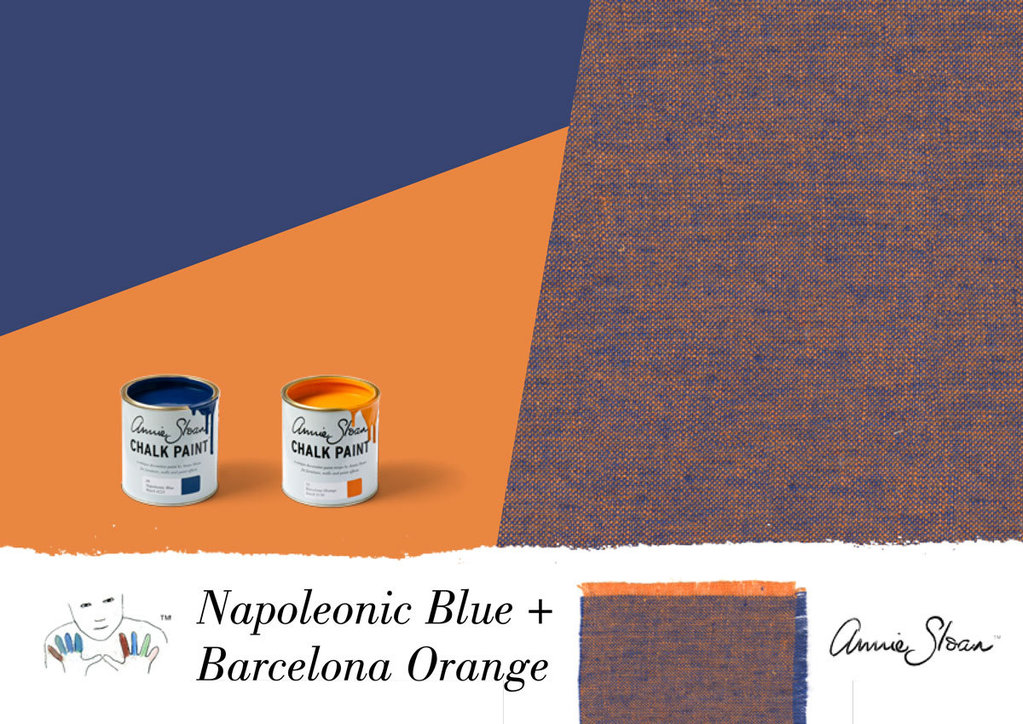 Napoleonic blue barcelona orange for Blue barcelona