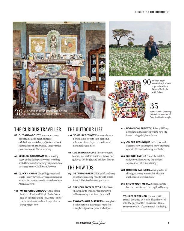 the colourist annie sloan 39 s erstes neues magazin. Black Bedroom Furniture Sets. Home Design Ideas