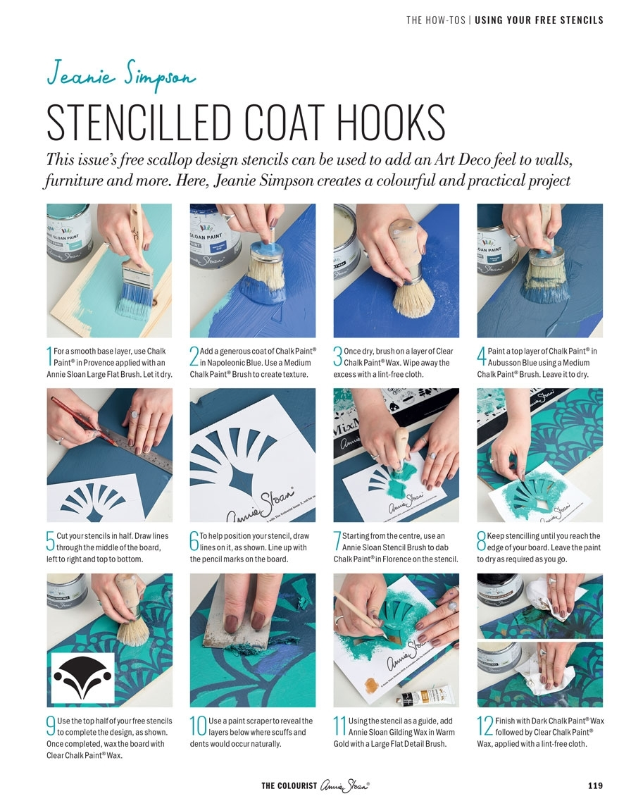 the-colourist-issue-3 stencilled-coat-hooks-page-2
